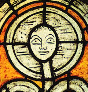 Vitrail figure et symbole
